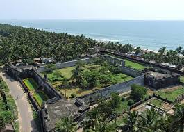 Anjengo Fort, aerial view