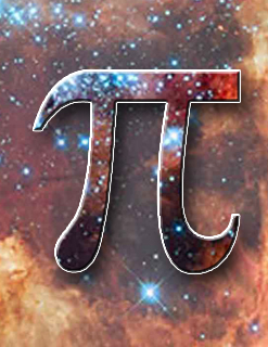 The Pi symbol could very represent the infinite harmony of the Universe.