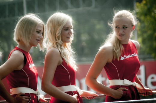 Formula 1 girls at the Italian Grand Prix.