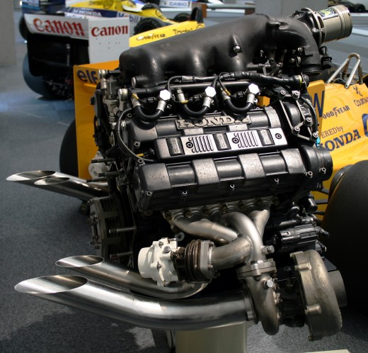 Honda RA168E Formula One engine from 1988, which was the last year of the turbocharged engines in F1, until 2014 when the turbocharger will make it's comeback.