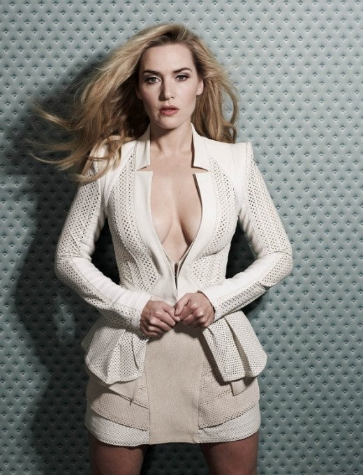 Kate Winslet cleavage in Glamour