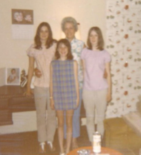My sisters and I with our grandmother.