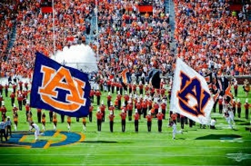 Auburn has a large fan base that fills up Jordan Hare stadium to see The Tigers play.  The band and the cheerleaders are great too!!