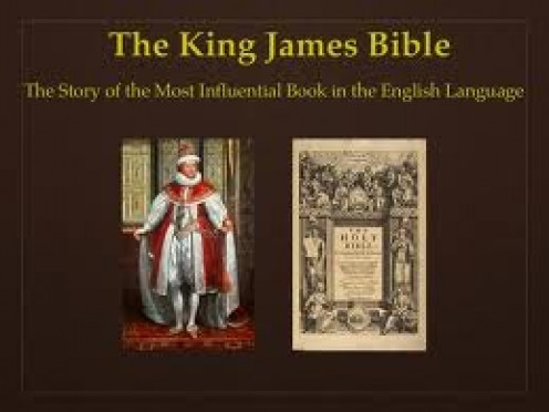 King James authorized the Bible being translated to English but some say he took out chapters of the  bible that he didn't want to be in their.