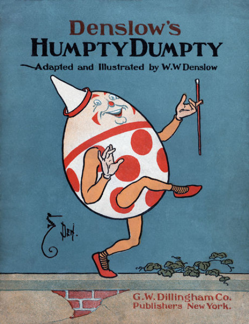 Book cover illustration by William Wallace Denslow for 1904 adaptation of Humpty Dumpty.