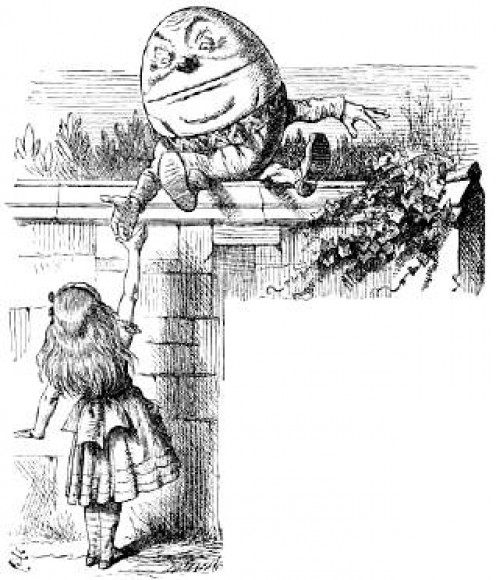 John Tenniel's illustration for Through The Looking Glass 1872