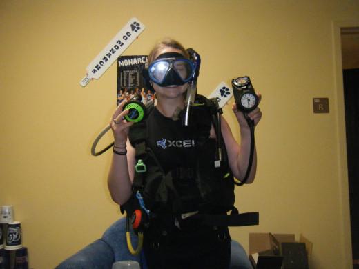 Mask, Buoyancy Compensator, Regulator, Weight Belt, and Computer