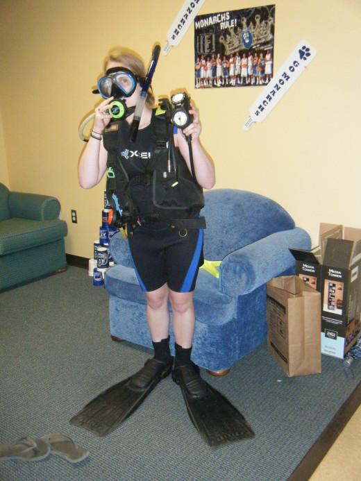 Full SCUBA gear (including air tank)