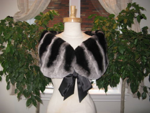Ebay.com's seller American Furs has many lovely black shawls.