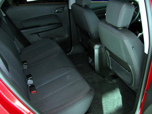 Generous rear seat area of GMC Terrain