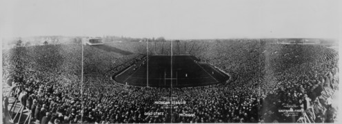 Formal opening of the new Michigan Stadium in Ann Arbor on 10/22/1927.