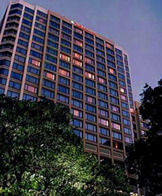 The Marriot Hotel, Hyde Park, Sydney.