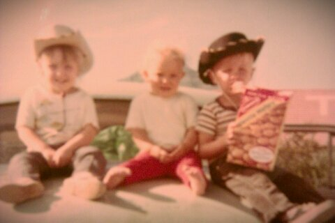 My brother, sister and I. I'm in the middle, the youngest of three.