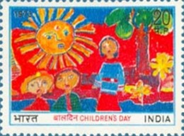 First multicolor Children's Day Stamp