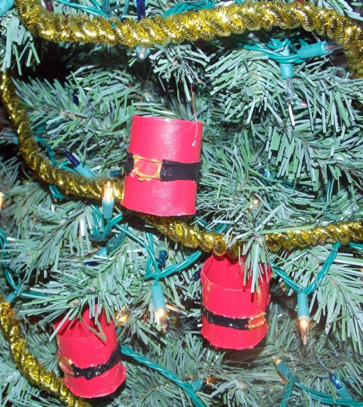 Santa Pants, Quick and Easy Christmas Ornament