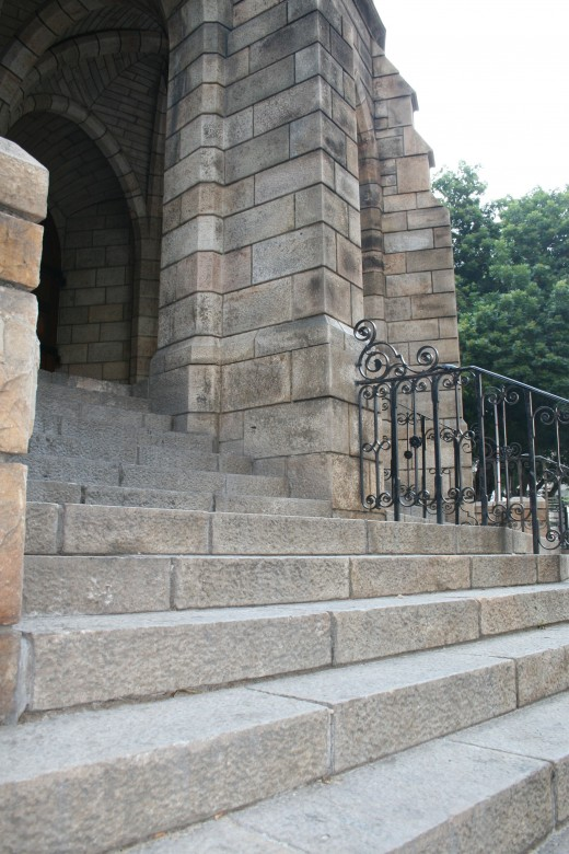 The steps of St George's Cathedral, scene of many anti-apartheid demonstrations duing the 70s and 80s.