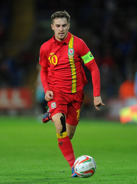 Ramsey in action for Wales against Macedonia