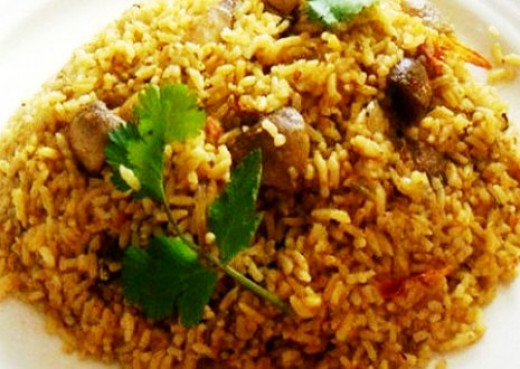 Delicious Spicy Mushroom Biriyani Indian Style recipe
