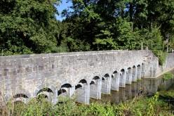 Montignies-Saint-Christophe, Belgium, the Hantes river and the so called Roman bridge