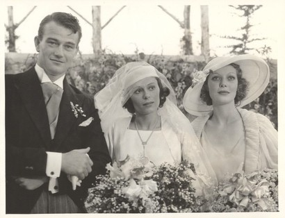 John Wayne married Josephine Saenz, daughter of the Panamanian Consul in Los Angeles on June 23, 1933.  After the ceremony, the couple and guests celebrated at the home of Loretta Young (right). Wayne divorced Josephine in 1945.