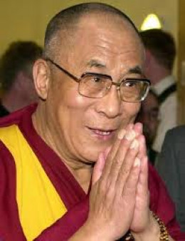 The Dalai Lama who refers to himself as a simple Buddhist monk.