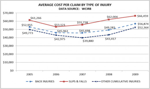 Graphical Example of the Extreme Cost of Slips and Falls