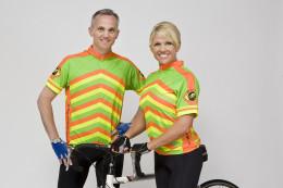Wear a bright cycling jersey