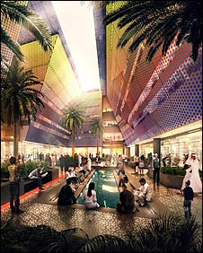 """""""The quality of air will be better than any other street in the Gulf and in the world, and that alone will bring you safety, health and happiness""""  Source: Kaled Awad, director of the Masdar project"""