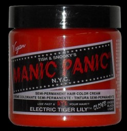 Manic Panic Electric Tiger Lily Review - Unbleached hair