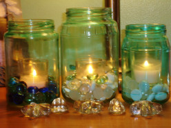 Easy, Cheap and Fun Decorative Jars