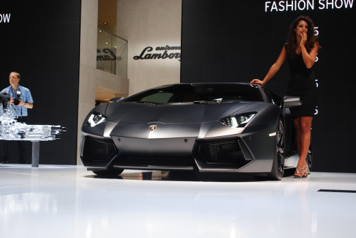 Lamborghini Aventador LP 700-4 at IAA in 2011.