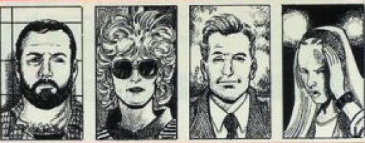 The noted suspects of the murder…Steve London, Christine Fenton, Michael Boyd and Deni Hayes.