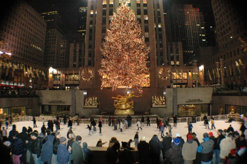 The Rockefeller Plaza Christmas Tree in New York City. What a Beauty!