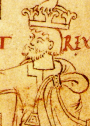 Knut 'the Great' from an English manuscript