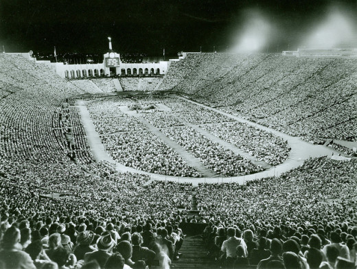 A typical Billy Graham Crusade.