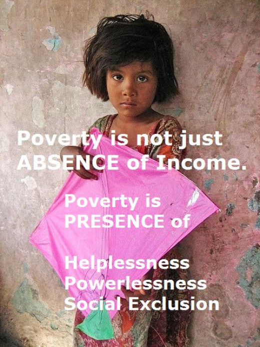 Poverty is not an income issue.