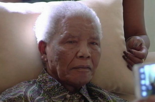 Nelson Mandela at an old age