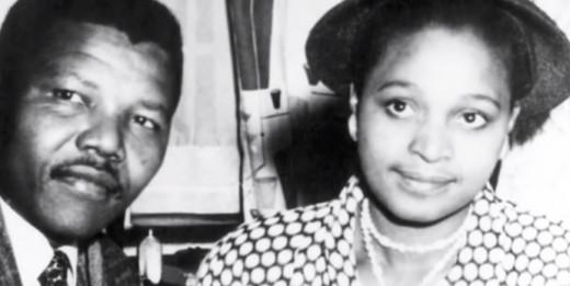 Nelson Mandela with Winnie Mandela