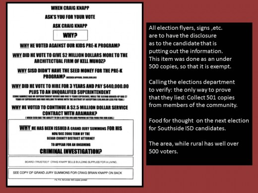 Front copy of flyer, back hard to read.