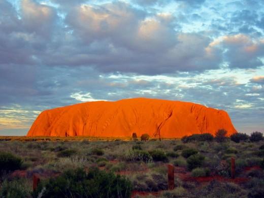 Uluru or Ayers Rock in Australia