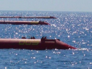 Pelamis, a machine able to produce energy from waves