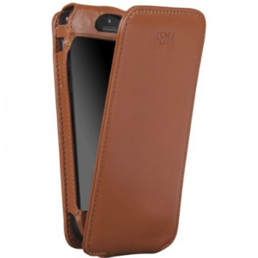 Brown Tan Leather iPhone 5S Case
