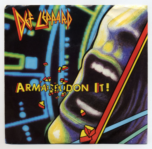 """Armageddon It"" single cover."