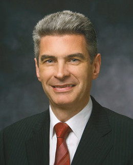Bishop Gérald Caussé was sustained as First Counselor in the Presiding Bishopric of The Church of Jesus Christ of Latter-day Saints on March 31, 2012.