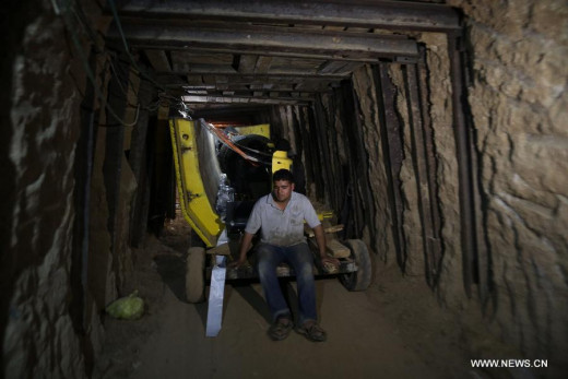 Hamas tunnel from Egypt to Gaza