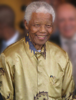What does Nelson Mandela mean or represent in your life?