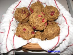 Cranberry Orange Nut Wheat Muffins with Flax