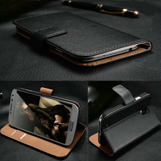 The luxury leather flip wallet case is perfect for professionals and business people