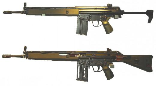 The Heckler & Koch G3 battle rifle