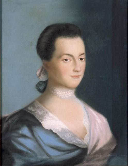 Benjamin Blythe's Portrait of  Abigail Adams  1766